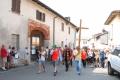 2due croci un gruppo direttamente da Pavia altra croce più grande da milano con don carlo