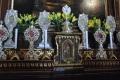 Le Sacre reliquie provenienti dal Duomo di Milano esposte per l'importante occasione della Festa annuale.